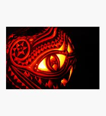 Ornate pumpkin carving Photographic Print