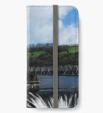 Pontsticill reservoir, portrait iPhone Wallet/Case/Skin