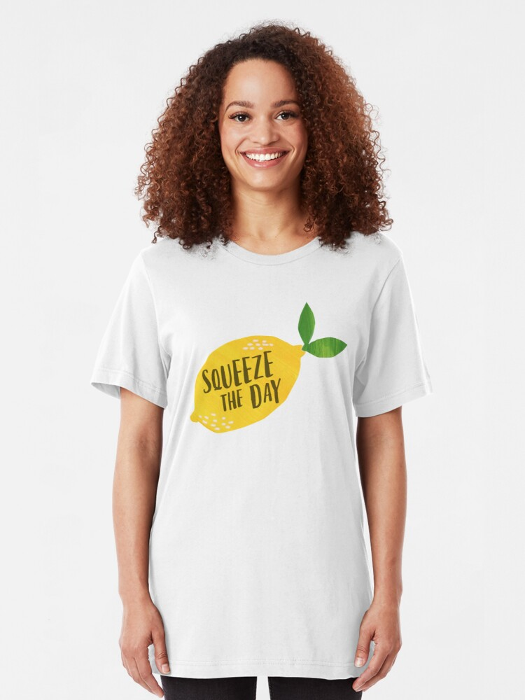 Alternate view of Squeeze the Day Slim Fit T-Shirt