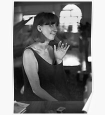 Frances Tyrie upstairs at Art Unit 1982 Poster