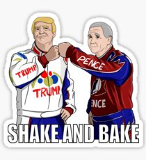 Shake and Bake Trump and Pence Sticker