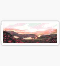Strawberry Battle Field Scenery Sticker