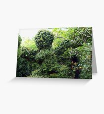 Cupid topiary Greeting Card