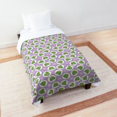 Frog Pattern Purple and Green - Cute Purple Frog Comforter