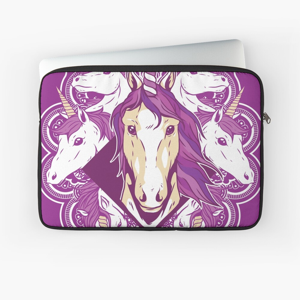 Unicorn Mandala Laptop Sleeve