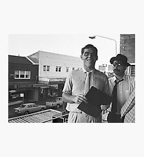Frank Haines at UpCake Art in  Fairfield in 1983 Photographic Print