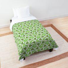 Frog Pattern Green - Cute Green Frog Comforter