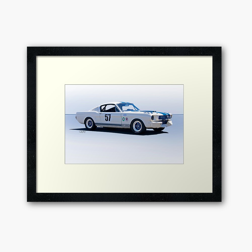 1965 Shelby Mustang GT350 Production GT Framed Art Print