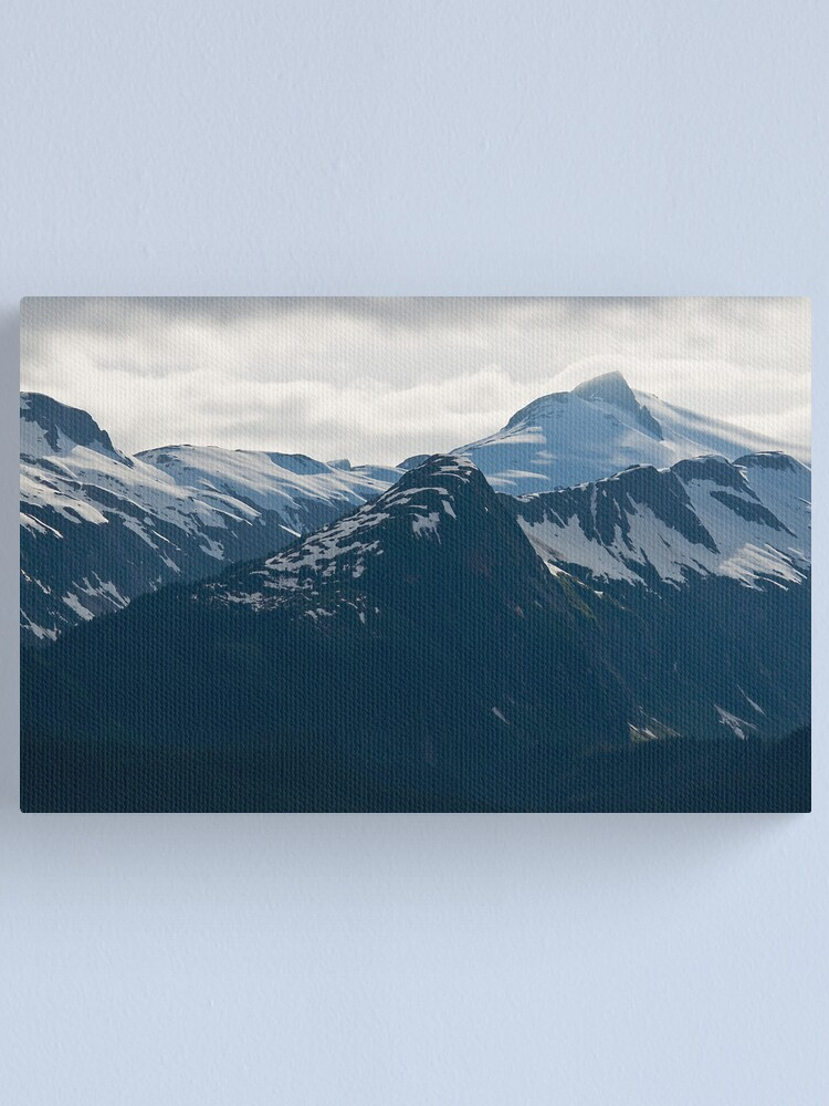 Alternate view of Juneau's Mountain Peaks Canvas Print