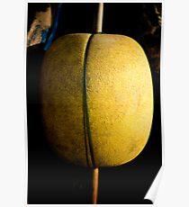 Yellow buoy, fishing vessel, Ho Tram beach, Vietnam Poster