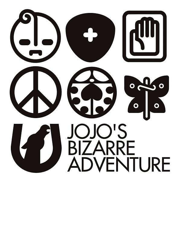 """Jojo's Bizarre Adventure Symbols"" Stickers by nintendino ..."