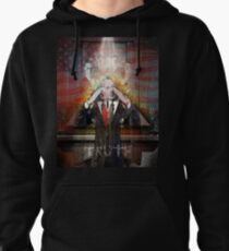 Remastered Portrait of Stephen Colbert Pullover Hoodie
