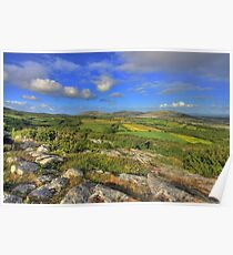 Beautiful Burren landscape Poster