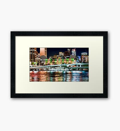 Brisbane Fairy Lights Framed Print