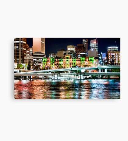 Brisbane Fairy Lights Canvas Print