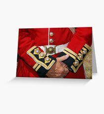 British Coldstream Guards Greeting Card