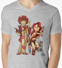 The Doctor, The Warrior, and K-9 Mens V-Neck T-Shirt