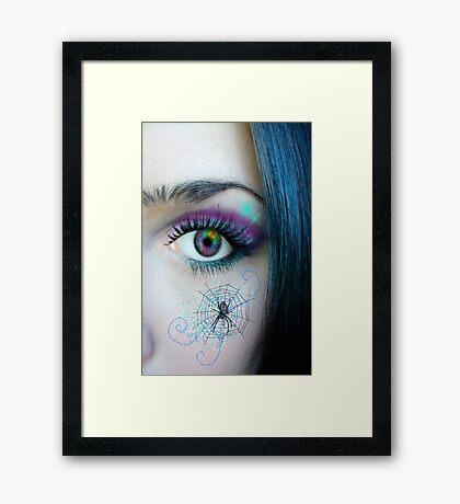 Behind Blue Eyes... Framed Print