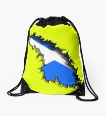 Scottish in Me Saltire Rip Tear  Drawstring Bag