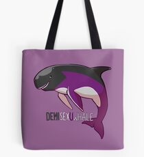 Demisexuwhale - mit Text Tote Bag