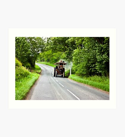 Along The Country Road Art Print