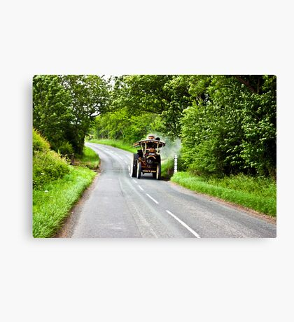Along The Country Road Canvas Print