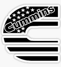 Cummins Black Logo Sticker