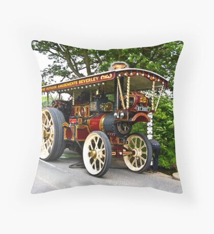 Steam Traction Engine #1 Throw Pillow
