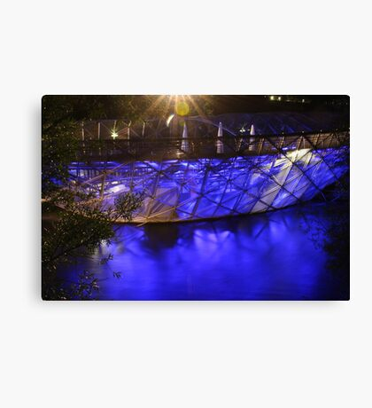 Our blue boat Canvas Print