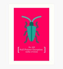 Null Pointer Exception Art Print