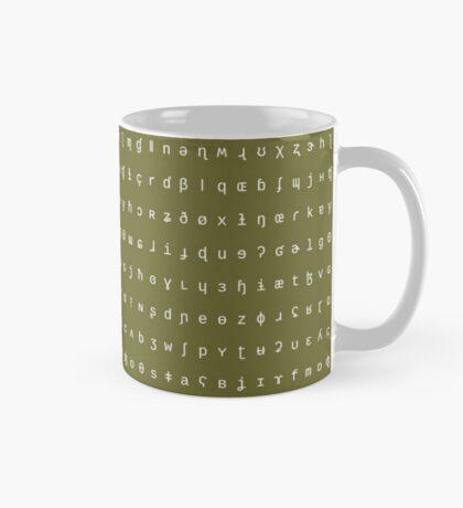 IPA mug - olive and white Mug