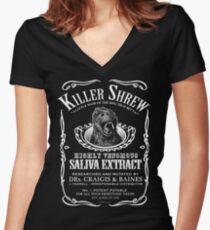 Killer Shrew! Women's Fitted V-Neck T-Shirt