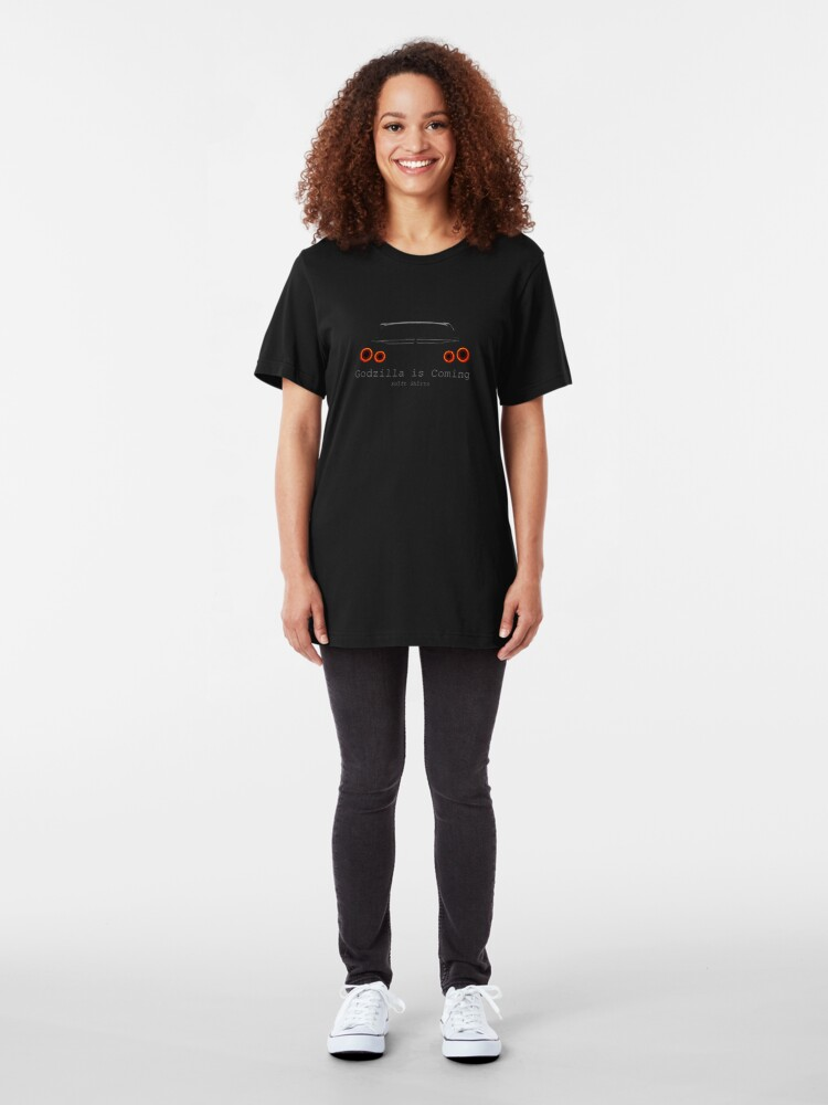 Alternate view of Gawdzilla is Back 2 - R35 GTR Inspired  Slim Fit T-Shirt