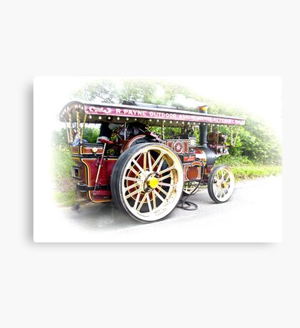 Steam Traction Engine #3 Metal Print