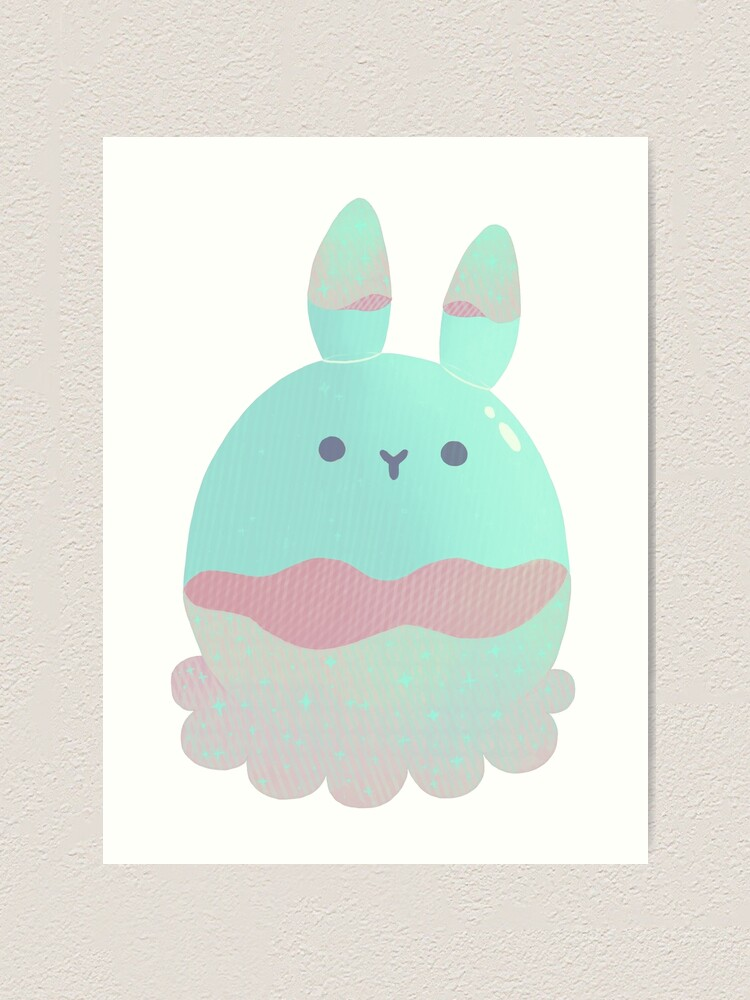 Alternate view of Water Bunny - Candy Art Print