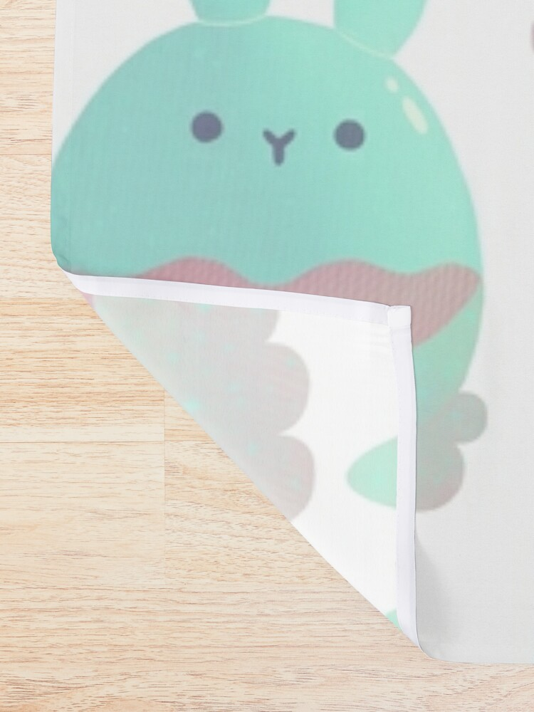 Alternate view of Water Bunny - Candy Shower Curtain