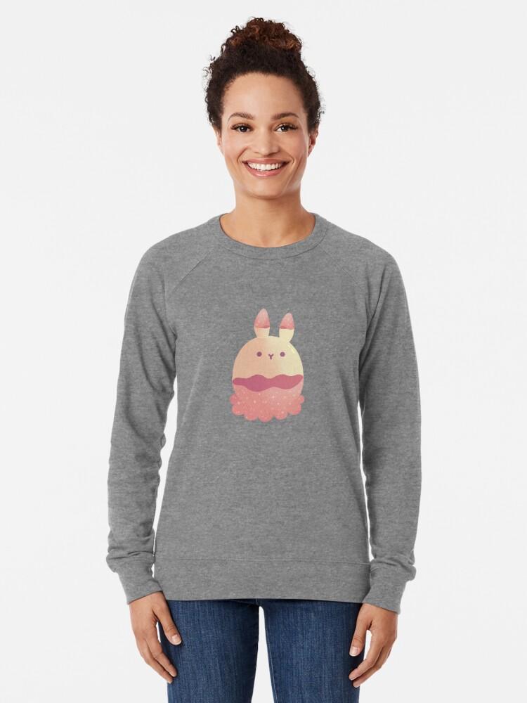Alternate view of Water Bunny - Pink v2 Lightweight Sweatshirt