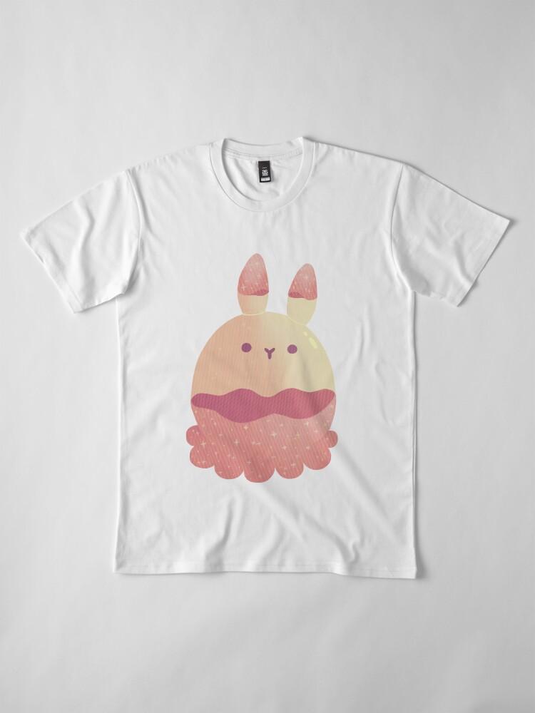 Alternate view of Water Bunny - Pink v2 Premium T-Shirt