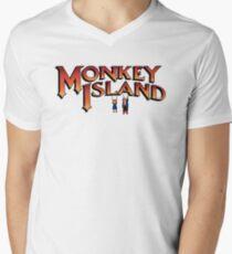 Monkey Island in Chains Men's V-Neck T-Shirt