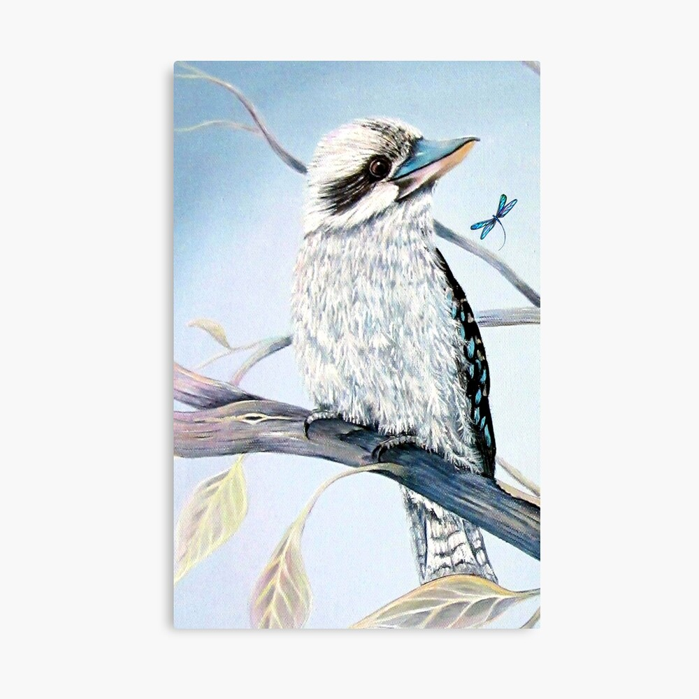 Kookaburra and Dragonfly Canvas Print
