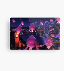Lights Over London Metal Print