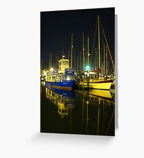 The Orwell Lady At Night, Ipswich Greeting Card