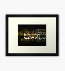 Neptune Quay, Ipswich at Night Framed Print