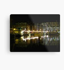 Neptune Quay, Ipswich at Night Metal Print