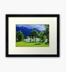 Clouds River and Light Framed Print