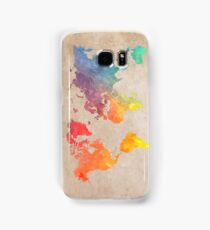 World Map maps Samsung Galaxy Case/Skin