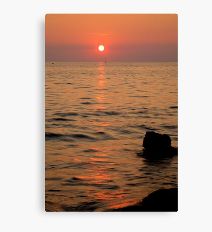 Croatian sunsets Canvas Print