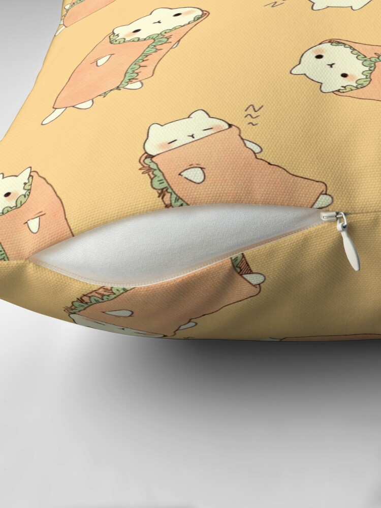 Alternate view of  Purrito ! Throw Pillow