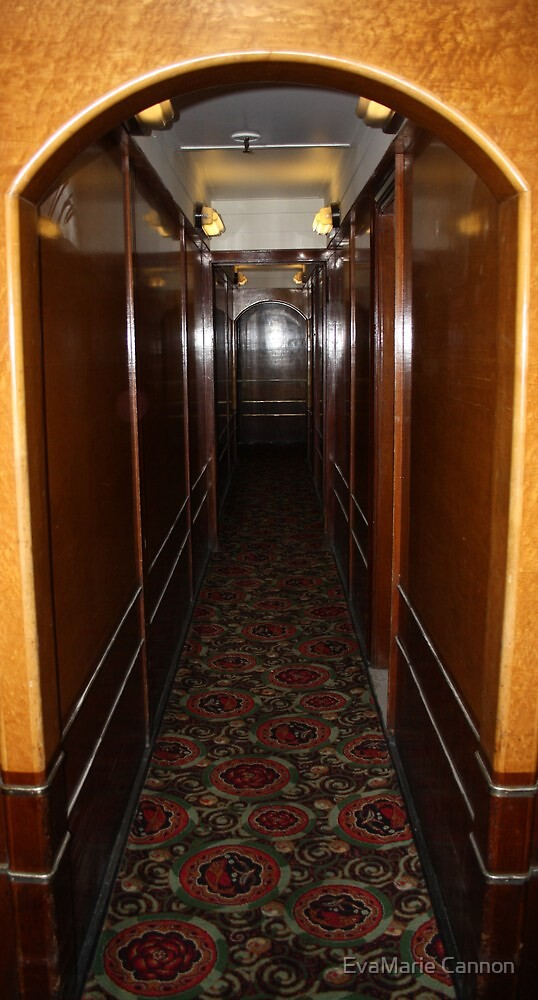 Queen Mary...Starboard  to Port Hallway... by EvaMarie Cannon