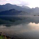 Lake at Dusk 03 by Daidalos